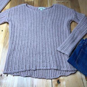 Calvin Klein loose knit XS sweater blush pink